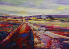 Calderdale Way at Dimmindale Archival print size 3 by kateboyce Abstract Landscape, Landscape Paintings, Abstract Art, Landscapes, Abstract Paintings, Mixed Media Painting, Mixed Media Canvas, Costa, Contemporary Artwork