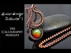 (RE-UPLOAD. I edited the previous version slightly) This tutorial shows how to make the Calligraphy pendant with very few tools and just as few materials. Wire Pendant, Wire Wrapped Pendant, Wire Wrapped Jewelry, Wire Jewelry, Jewlery, Wire Tutorials, Jewelry Making Tutorials, Wire Weaving Tutorial, Wire Necklace