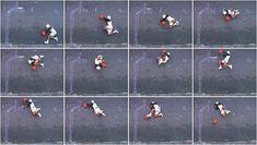 Robin Rhode, He Got Game, 2000. Draw, adjust, photograph