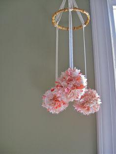 baby girl nurserys | Baby Girl Crib Mobile Nursery - Kimono Silk - 3 silk balls 4 - ready ...