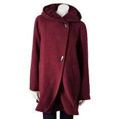 Croft and Barrow Hooded Wool Walker Coat for winter