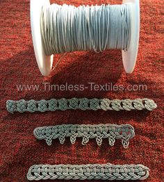 Beaded pewter wire used in making jewelry. It is also used for making posaments for Viking living history. 0.30mm and 7% silver content. Samples in picture are not included. This purchase is for wire only.  Please contact us if you need greater quantities than currently listed.