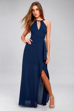 6d6c71c278  OOTD  Summer  AdoreWe  Lulus -  Lulus I Spy Navy Blue Maxi Dress - Lulus -  AdoreWe.com  backtoschool