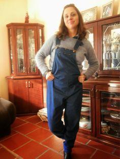FEMINA - Modéstia e elegância (por Aline Rocha Taddei Brodbeck): Resenha: macacão jeans da A Gestante