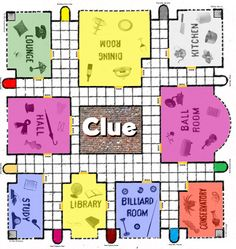 Slobbery image for clue game board printable