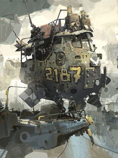 illustration concept ship by Ian McQue