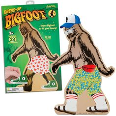 Dress-Up Bigfoot - No more naked Bigfoot! Dress him however you want...