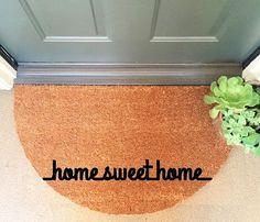 Home sweet home Doormat Coir Funny Doormat / by InspireLifeToday