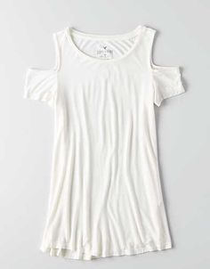 AEO Soft & Sexy Cold Shoulder T-Shirt , Natural White | American Eagle Outfitters