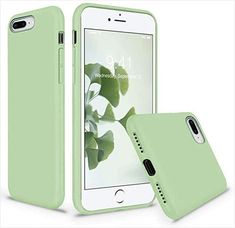 Vooii iPhone 8 Plus Case, iPhone 7 Plus Case, Soft Silicone Gel Rubber Bumper Case Microfiber Lining Hard Shell Shockproof Full-Body Protective Case Cover for iPhone 7 Plus Plus - Matcha Rubber Iphone Case, Iphone Bumper Case, Silicone Phone Case, Iphone Phone Cases, Iphone 8 Plus, Matcha, Shell, Iphone Accessories, Mobile Accessories