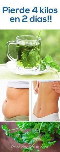 4 kilos lost in 2 days healthily with this infusion of parsley easy to make at home. Healthy Juices, Healthy Drinks, Healthy Tips, Healthy Eating, Healthy Recipes, Lose Weight, Weight Loss, Fitness Workouts, Detox Drinks
