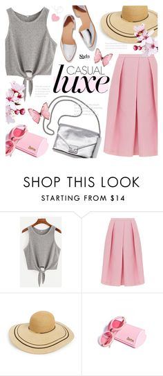 """""""Casual Tank Top ~ SheIn Contest Entry"""" by alexandrazeres ❤ liked on Polyvore featuring TIBI, Loeffler Randall, Eugenia Kim, Wildfox, tanktop, Sheinside and shein"""