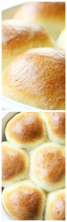 Grandma's Rolls ~ Absolutely delicious... They are perfect for a novice baker because the dough can be completely made in a stand mixer and the dough is very forgiving to shape into rolls