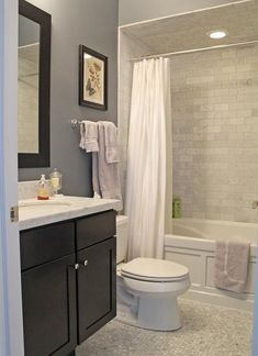 Cozy small bathroom shower with tub tile design ideas Upstairs Bathrooms, Downstairs Bathroom, Bathroom Renos, Laundry In Bathroom, Grey Bathrooms, Beautiful Bathrooms, Bathroom Renovations, Master Bathroom, Home Remodeling