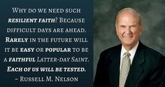 """We live in a constantly changing world—of competing ideologies. The forces of evil will ever be in opposition to the forces of good. Satan constantly strives to influence us and make us miserable. But we do not need to let our fears displace our faith. We can combat those fears by strengthening our faith."" From #ElderNelson's http://pinterest.com/pin/24066179230963800 inspiring #LDSconf http://facebook.com/223271487682878 talk…"