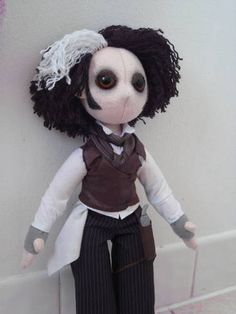 sweeny todd poppet by lankins on crafster crafting-goodness-i-want Estilo Tim Burton, Gothic Dolls, Sweeney Todd, Jack And Sally, Creepy Dolls, Johnny Depp, Nightmare Before Christmas, Doll Toys, Art Dolls
