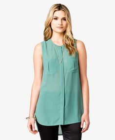 Pleated Patch Pocket Tunic | FOREVER21 - 2021841327