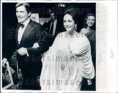 1977 Actress Elizabeth Taylor With 7th Husband John Warner Press Photo