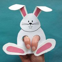 Easter Bunny Craft and Rhyme for preschool and Kindergarten