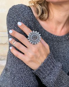Your place to buy and sell all things handmade Stylish Rings, Unique Rings, Aztec Rings, Gypsy Rings, Chunky Rings, Rings N Things, Big Rings, Handmade Rings, Stone Rings