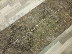 2.5x12.5 Distressed tapijt Vintage handgeweven Oushak wol