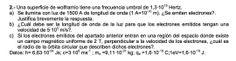 Ejercicio de Física Moderna propuesto en el examen PAU de Canarias de 2003 - 2004 Setiembre, Opción A.