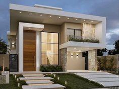Best Modern House Design, Modern Exterior House Designs, Bungalow House Design, House Front Design, Dream House Exterior, Small House Design, Exterior Design, Modern House Facades, Modern Architecture House
