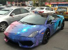 Wow!!  Out of this world with a cosmic Lamborghini Gallardo!