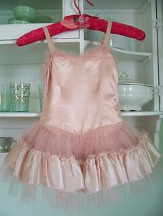 intage PINK satin little girl's dance recital costume
