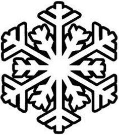 free snowflake craft pattern...