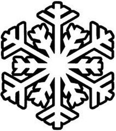 free snowflake craft pattern...