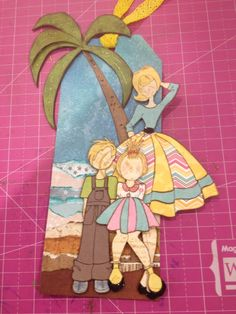Julie Nutting Mother's Day tag Prima Paper Dolls, Prima Doll Stamps, Beach Scrapbook Layouts, Scrapbook Paper Crafts, Pretty Dolls, Beautiful Dolls, Mothers Day Cards, Art Journal Pages, Paper Decorations