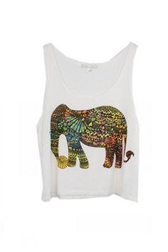 elephants, tank top, fashion, style, print tank, tanktop, prints, eleph print, tanks