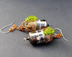 Steampunk Vacuum Tube Earrings  Victorian by MadScientistsDesigns, $55.00