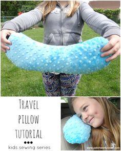 travel pillow tutorial kids sewing series