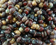 Sunset Picasso Mix 7mm Faceted Russian Cut Beads by beadsandbabble, $4.99