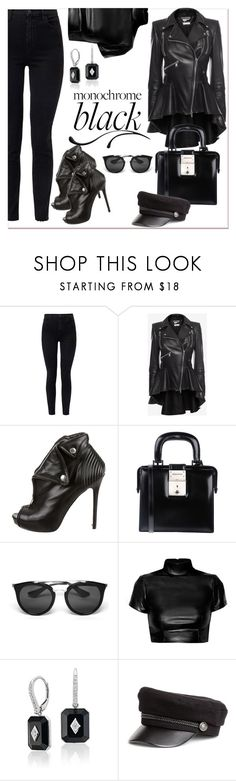 """""""Black...."""" by nihal-imsk-cam ❤ liked on Polyvore featuring J Brand, Alexander McQueen, Dsquared2, Prada, Black Swan and allblack"""