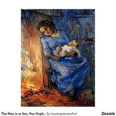 O homem está no mar, belas artes de Van Gogh Cartão Postal