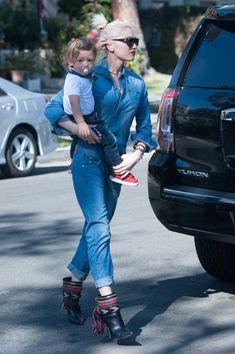 Gwen Stefani takes her boys Kingston, Zuma and Apollo to church