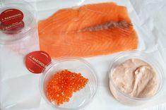 Salmon and tarama mini logs - Recettes - noels Canapes, Finger Foods, Cantaloupe, Mousse, Brunch, Mini, Snacks, Fruit, Dinner