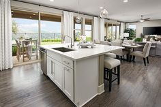 Breakfast At The Island Or On Covered Patio Shania Model Home Kitchen