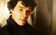 #BenedictCumberbatch #Sherlock Amazing painting!!