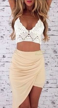 Summer Outfit - Maxi skirt & I want that crochet top soo bad!