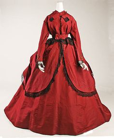 Dress Date: ca. 1869 Culture: American or European Medium: silk
