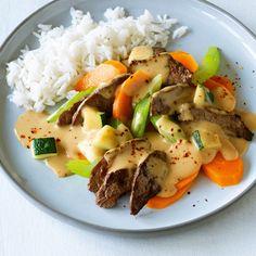 Scharfes Rindfleisch mit Gemüse Rezept   Küchengötter