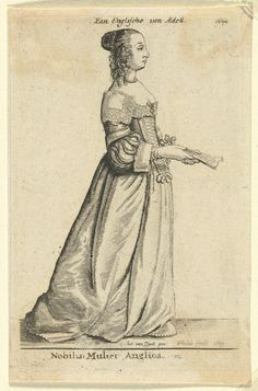 An English noblewoman  (Nobilis Mulier Anglica)  from the Theatrum Mulierum / Aula Veneris series (1640s-1650)  1649  Artist/s name Wenceslaus HOLLAR Anthony van DYCK (after)   Medium etching Catalogue/s Raisonné/s Parthey 1883; Pennington 1883 iii/iii Edition 3rd of 3 states Accession Number 2168.5-3 Credit Line National Gallery of Victoria, Melbourne