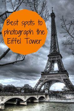 Best spots to photograph the Eiffel tower, Paris, France