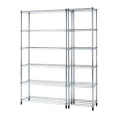 IKEA - OMAR, 2 shelf sections, Easy to assemble – no tools required.Also stands steady on an uneven floor since the feet can be adjusted.