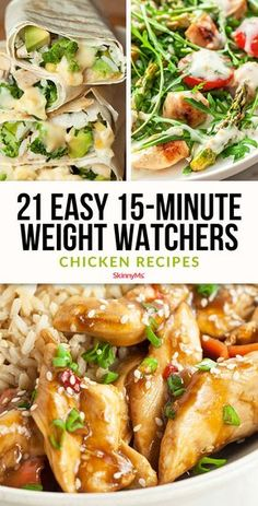 21 Easy Weight Watchers Chicken Recipes Weight Watchers Smart Points make it super easy to lose weight, but how do you know which recipes to make? These weight watchers chicken recipes are a great place to start! dinner recipes to lose weight Poulet Weight Watchers, Weight Watchers Diet, Weight Watcher Dinners, Weight Watchers Chicken, Weight Watcher Recipes, Weight Watcher Wraps, Ww Recipes, Chicken Recipes, Cooking Recipes