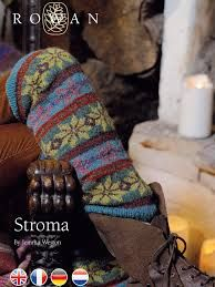 "Free pattern / Rowan yarn : Stroma ""fair isle"" legwarmers by Jem Weston Rowan Knitting, Fair Isle Knitting, Knitting Socks, Rowan Yarn, Free Knitting, Laine Rowan, Knit Leg Warmers, Crochet Magazine, Knitting Magazine"